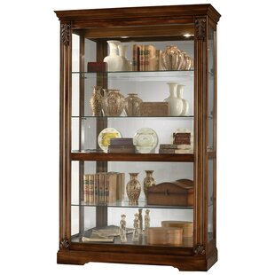 Darby Home Co Bratcher Curio Cabinet in Tuscany Cherry