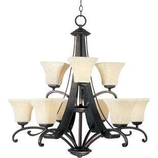 Darby Home Co Cottrell 9-Light Shaded Chandelier