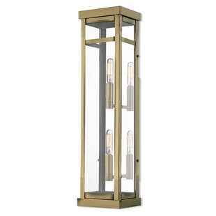 Affordable Price Demko Modern 2-Light Outdoor Flush Mount By Mercury Row