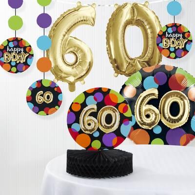 Balloon 60th Birthday Decorations Kit