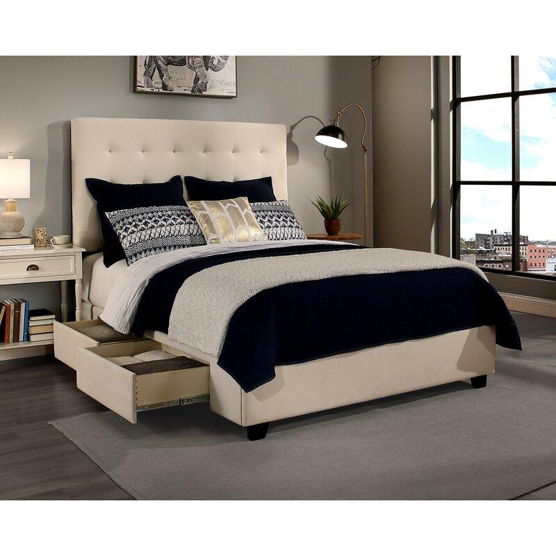 Canora Grey Miral 4 Drawer Upholstered Storage Platform ...
