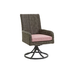 Cypress Point Ocean Terrace Rocker Swivel Patio Dining Chair with Cushion