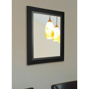 Brayden Studio Handcrafted Rectangle Black Wall Mirror