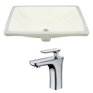 Reviews CUPC Ceramic Rectangular Undermount Bathroom Sink with Faucet and Overflow ByRoyal Purple Bath Kitchen