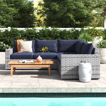 Bayou Breeze Rebeca Loveseat With Cushions Wayfair