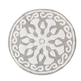 Cisco Medallion Geometric Cotton Tufted Bath Rug