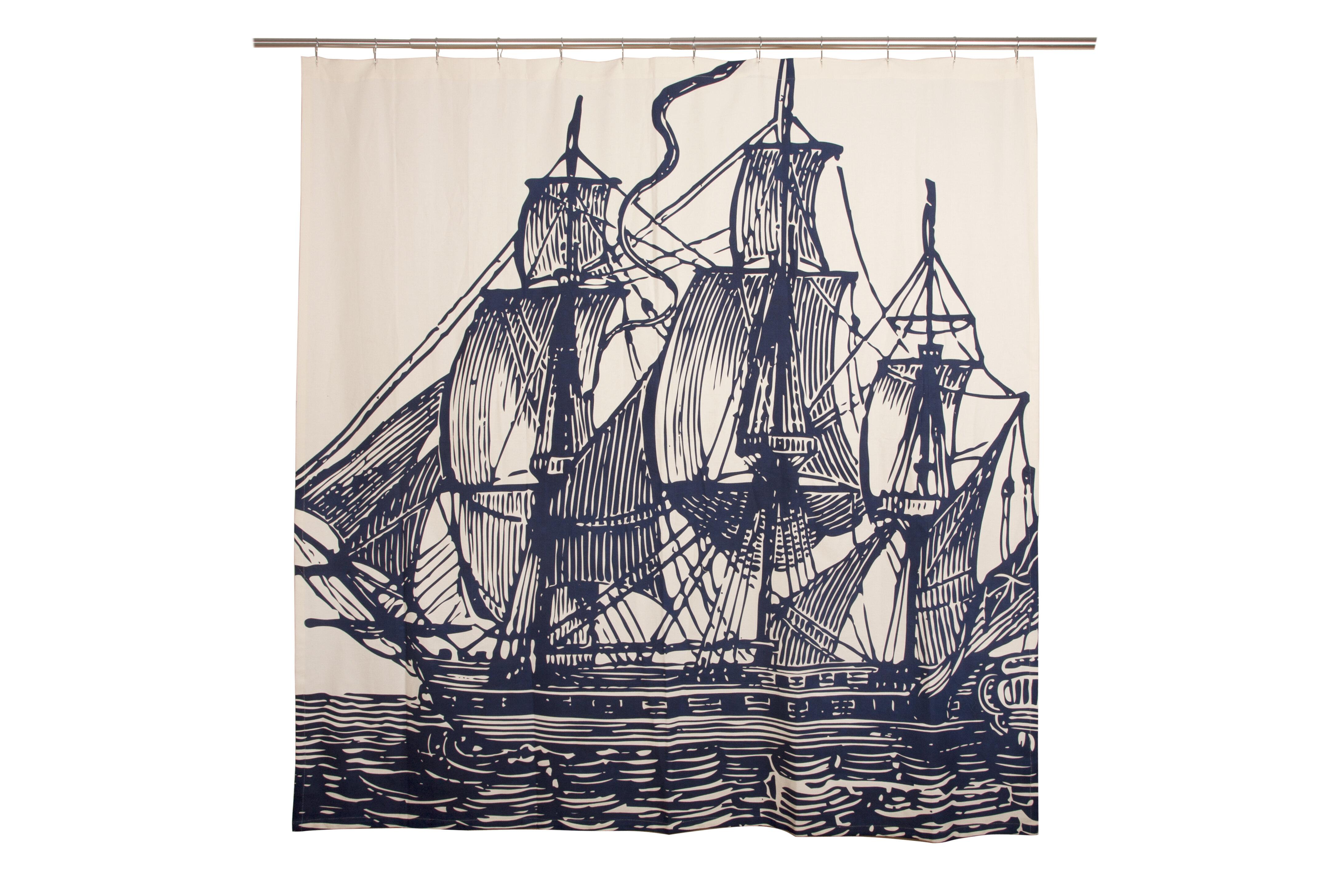 Ship Single Shower Curtain