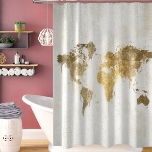 Everalda 'Mapamundi' Single Shower Curtain