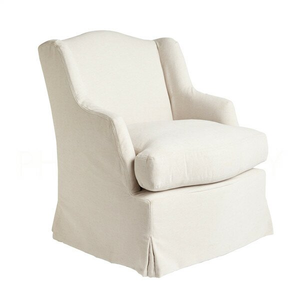William Wingback Chair #french #linen #armchair