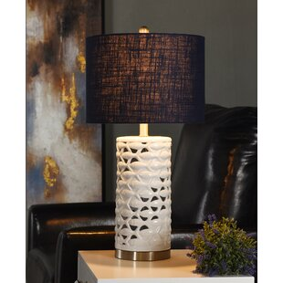 Natalie School of Fish Cylindrical 27'' Table Lamp by Longshore Tides