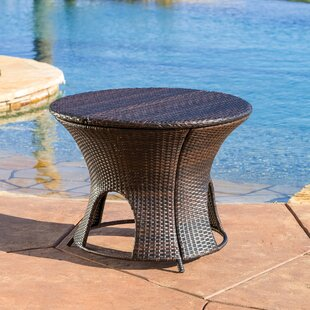 Purchase Stephen Wicker Outdoor Round Storage Table Affordable