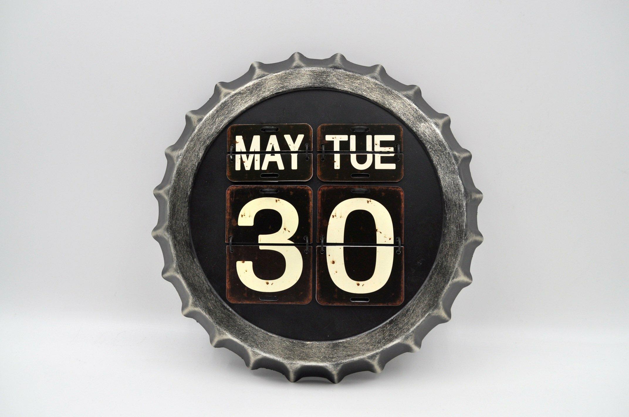 Williston Forge Beer Cap Vintage Calendar Wall Décor Wayfair Ca