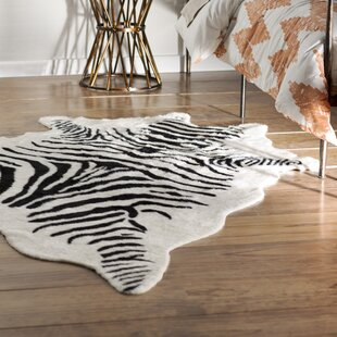 Come On Over To The Wild Side With This Beige 7 6 X 9 10 Area Rug Durable Is Made In An Alluring Zebra Stripe That Fun And Trendy
