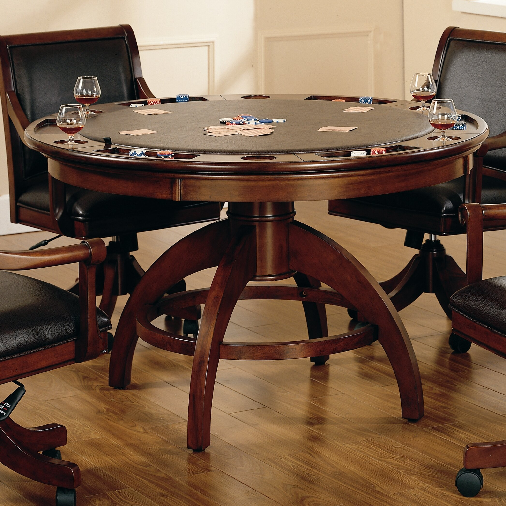 """Palm Springs 9"""" 9 - Player Poker Table"""