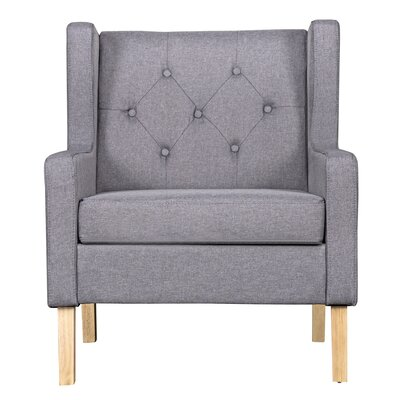 Pleasant Gracie Oaks Kingsteignt Armchair Color Gray Dailytribune Chair Design For Home Dailytribuneorg