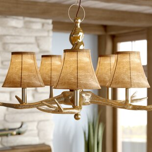 6 Faux Leather Bell Lamp Shade (Set of 5)