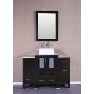 Brodeur 48 Single Bathroom Vanity Set with Mirror by Bosconi