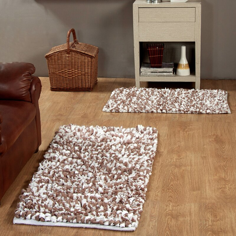 Brown Shag Area Rugs affinity linens 2 piece hand woven paper shag area rug set