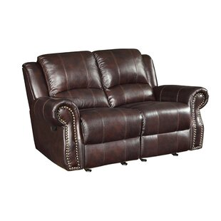 Lourenco Leather Reclining Loveseat by Red Barrel Studio