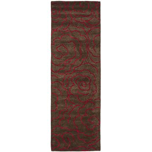 Tatyana Chocolate/Red Area Rug by Bloomsbury Market