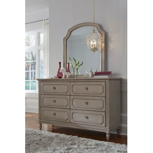 Alaina 6 Drawer Double Dresser with Mirror
