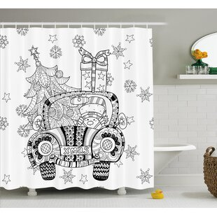 Christmas Car Snowflakes Single Shower Curtain