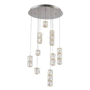 Al 9-Light LED Cluster Pendant by Orren Ellis