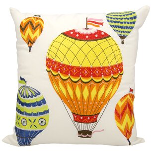Aranha Hot Air Balloon Outdoor Throw Pillow