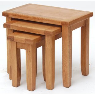 Ashly 3 Piece Nest Of Tables By Natur Pur
