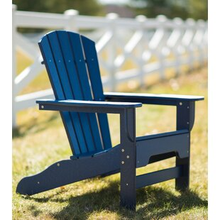 Strickland Plastic Adirondack Chair by Breakwater Bay