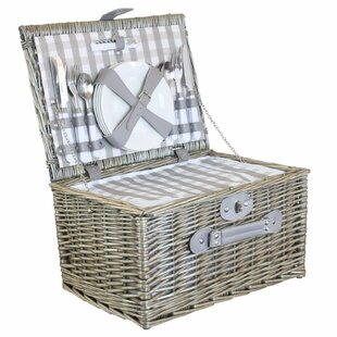 Checked Picnic Basket With Cooler By Brambly Cottage