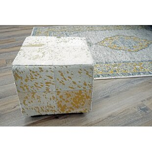 Elisabeth Leather Cube by Millwood Pines