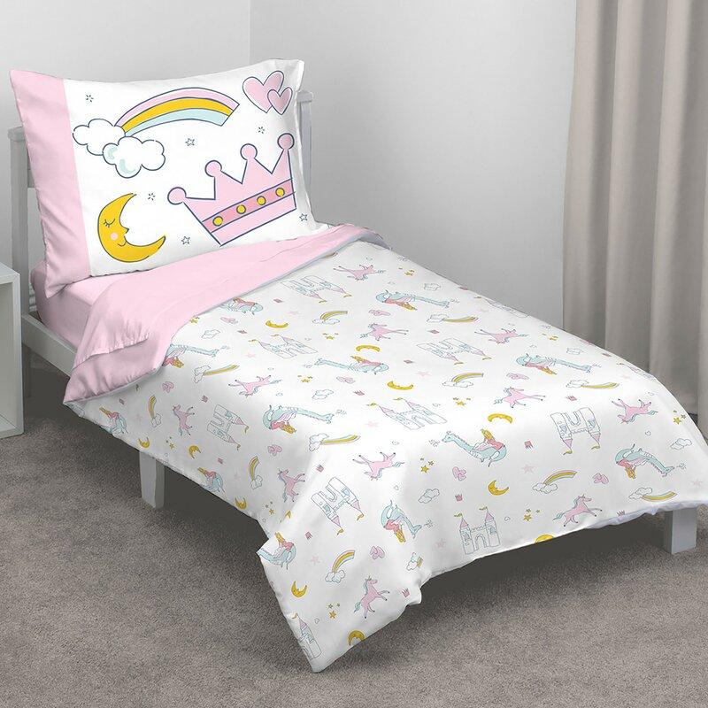 Whimsical Princess Tales 4 Piece Toddler Bedding Set
