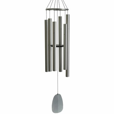 "Lavenia Bells of Paradise Wind Chime Alcott Hill Color: Silver, Size: 68"" H"