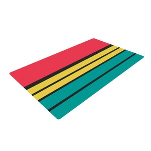 Danny Ivan Simple Red/Green Area Rug