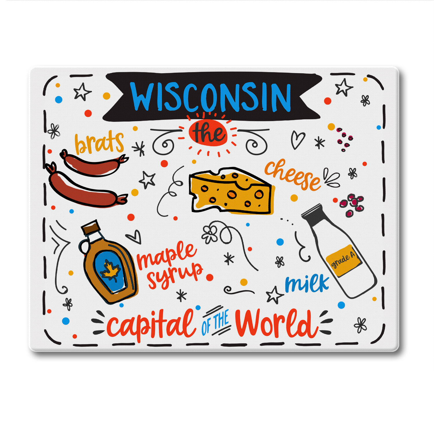 Counterart Glass Wisconsin State Foods Cutting Board Wayfair