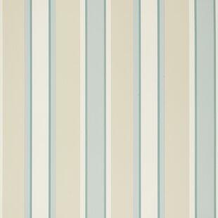 Charlton 10m L x 52cm W Stripe Roll Wallpaper by East Urban Home