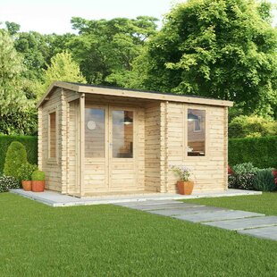 Noto 13 X 9 Ft. Tongue & Groove Log Cabin By Sol 72 Outdoor