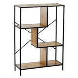 Hugo Rustic Geometric Bookcase by 17 Stories