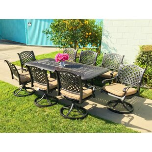 Darby Home Co Beadle 9 Piece Sunbrella Dining Set with Cushions