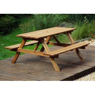 Fournier Wooden Picnic Bench By Union Rustic