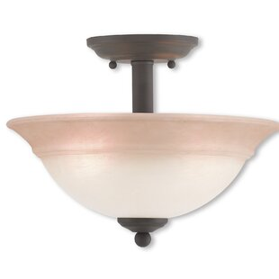Stoudt 2-Light Semi Flush Mount by Alcott Hill
