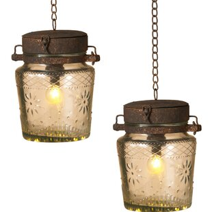Gerson International 1-Light LED Jar Pendant (Set of 2)