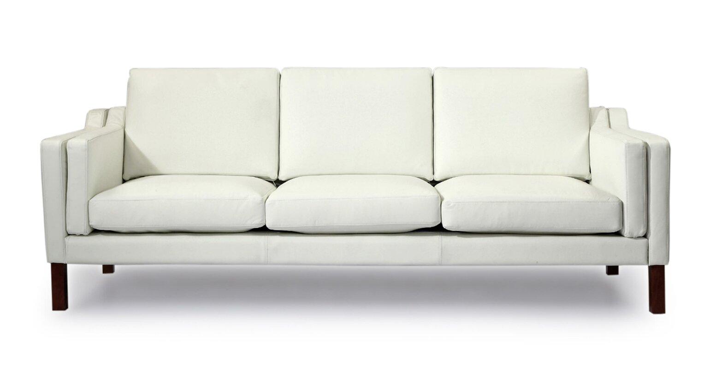 Corrigan Studio Rolando Mid Century Modern Leather Sofa & Reviews