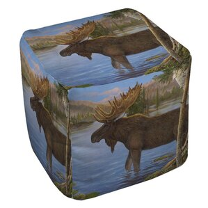 Majestic Moose Ottoman by Manual Woodworkers & Weavers
