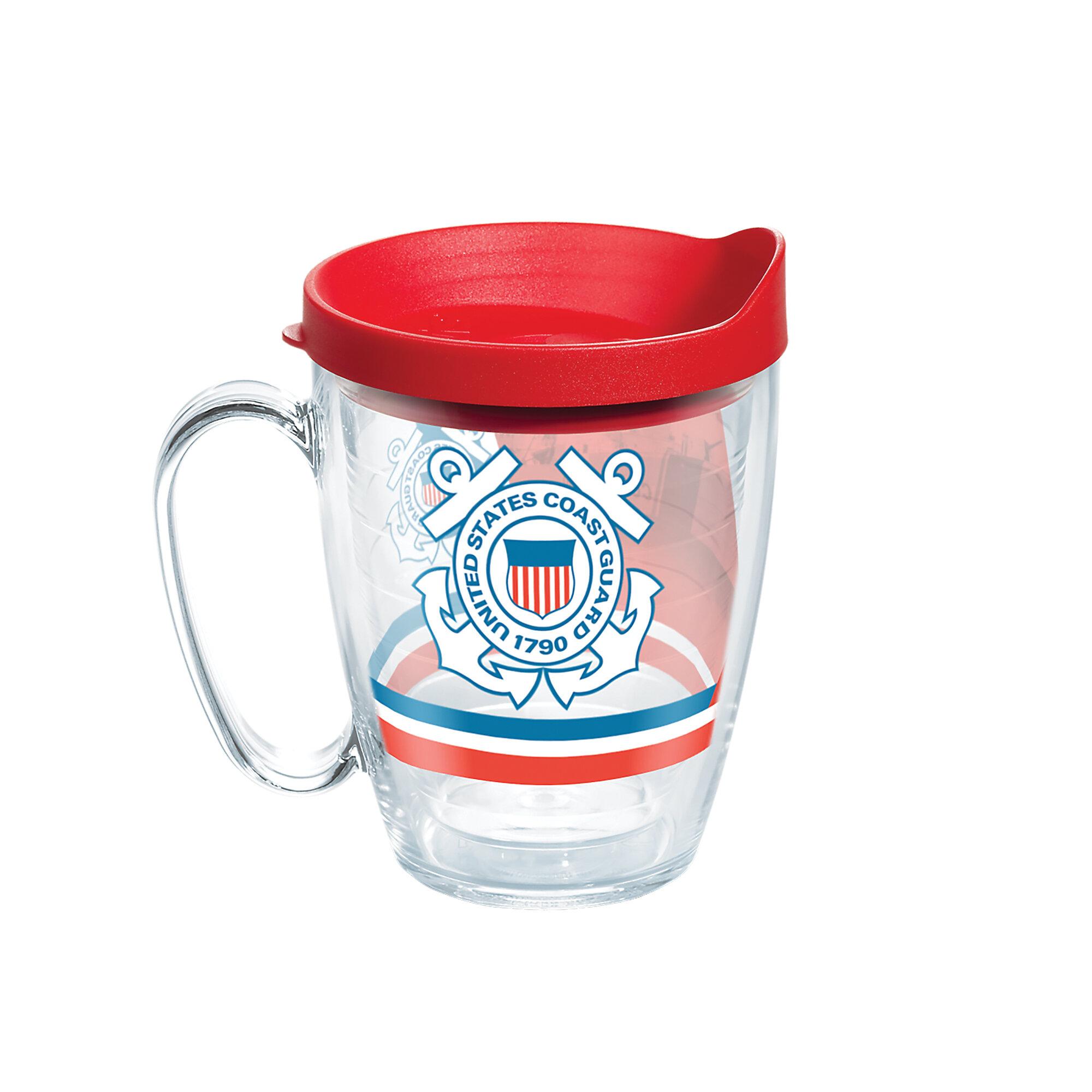 Tervis Tumbler American Pride Uscg Forever Proud 16 Oz Insulated Tritan Plastic Travel Mug Wayfair