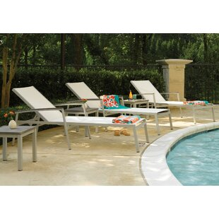 Caravelle Reclining Chaise Lounge Set with Table