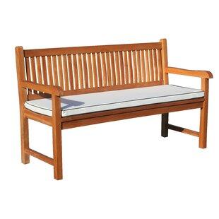Elzas Triple Teak Garden Bench with Cushion