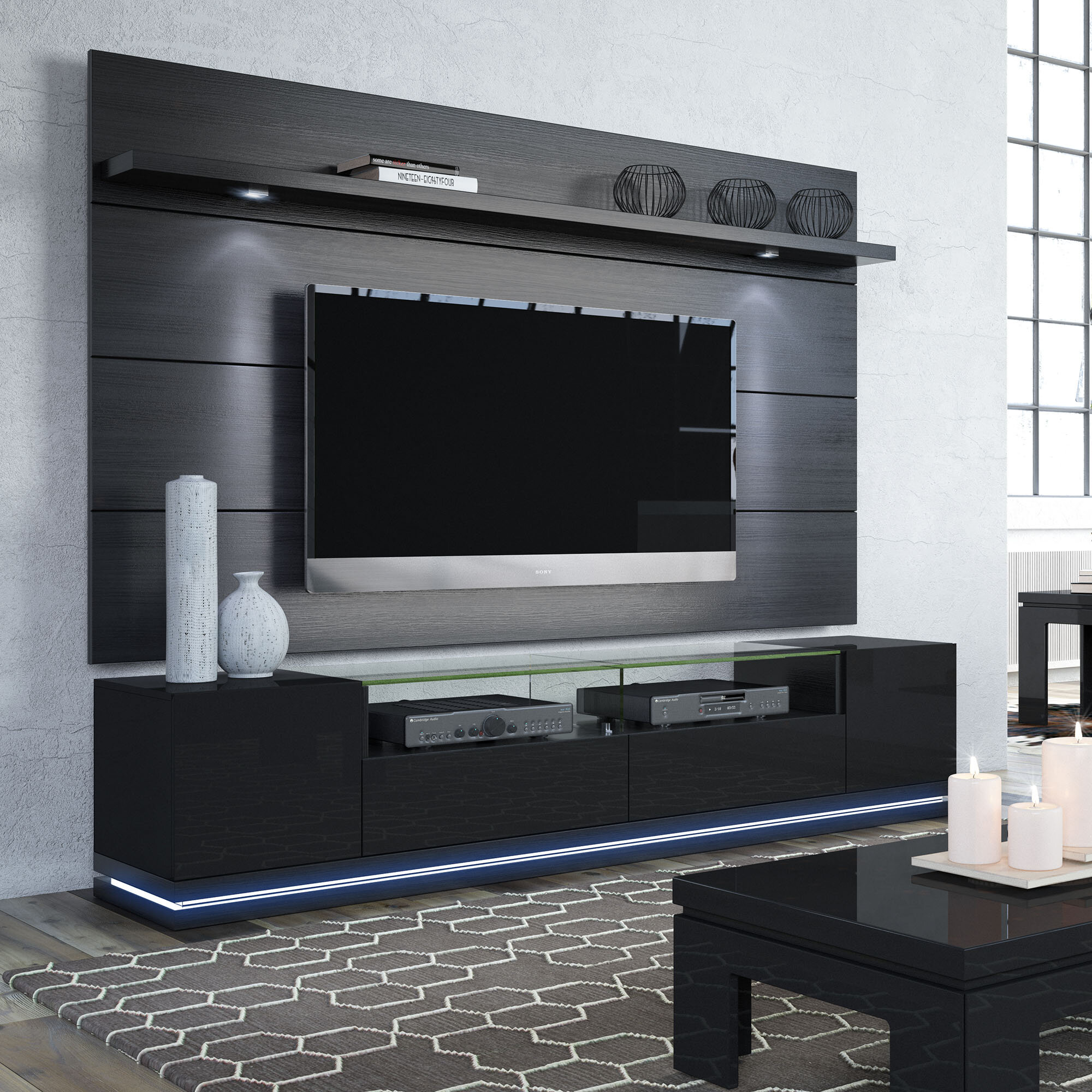 hot sale online 1040f 70f24 Danforth Floating Wall TV Stand for TVs up to 78