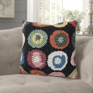 Destinee Circles Wool Throw Pillow